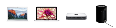 Mac・Mac Pro・Mac mini・MacBook Pro・MacBook Air